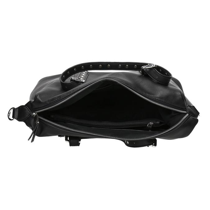 Czarna torebka zmetalowymi ćwiekami bata, czarny, 961-6834 - 15
