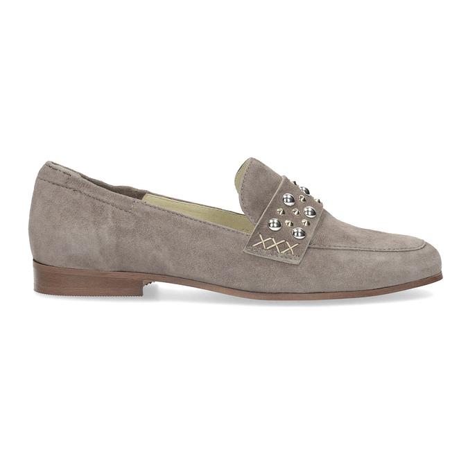 Skórzane mokasyny damskie zpaskiem bata, 516-3616 - 19