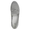 Szare skórzane mokasyny bata, szary, 513-2615 - 17