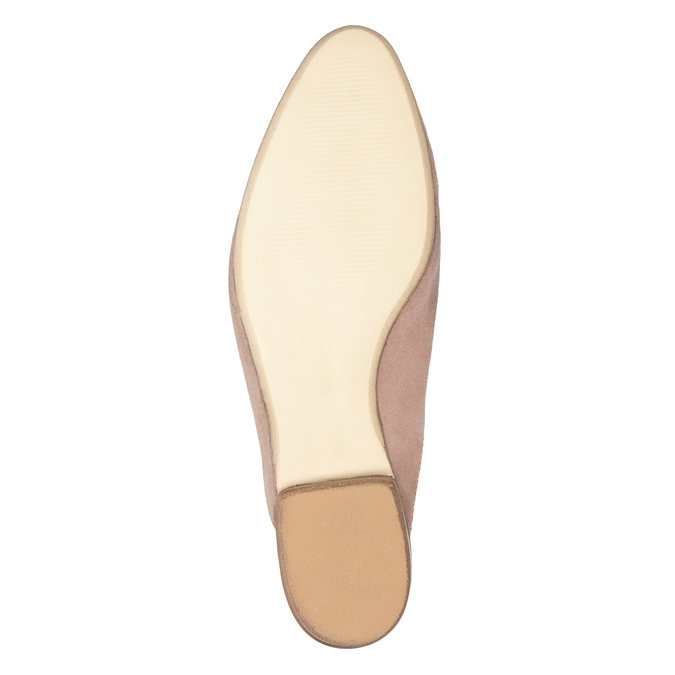 Skórzane mokasyny bez pięty bata, różowy, 516-5620 - 17