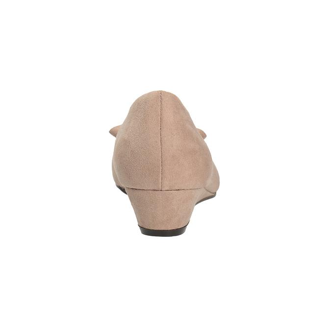 Czółenka na niskich koturnach bata, beżowy, 629-8633 - 15