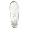 Białe skórzane trampki na grubej podeszwie bata, biały, 546-1616 - 17