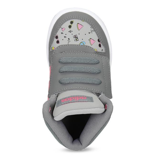 Szare trampki wdeseń, za kostkę adidas, szary, 101-2125 - 17