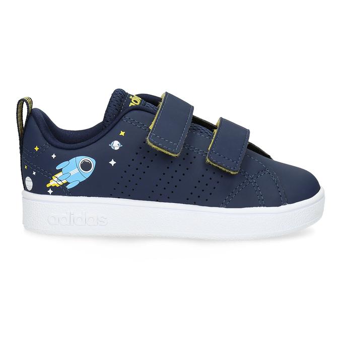 Granatowe trampki dziecięce na rzepy adidas, niebieski, 101-9129 - 19