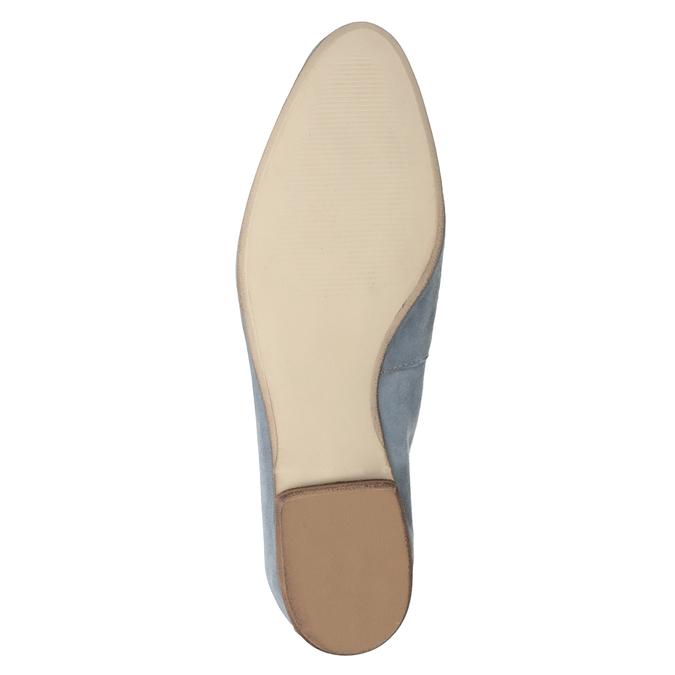 Nieformalne zamszowe mokasyny bata, niebieski, 516-9618 - 19
