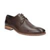 Brązowe skórzane półbuty zfakturą bata, brązowy, 826-4624 - 13