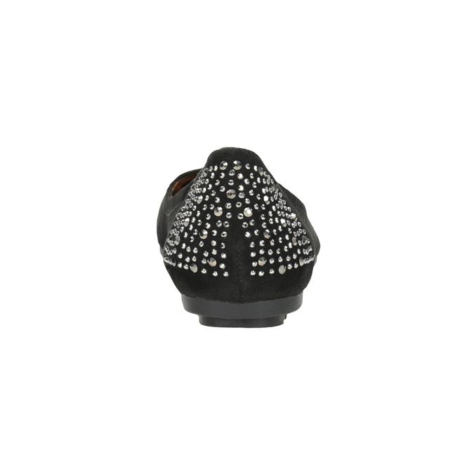 Baleriny zkryształkami bata, czarny, 529-6639 - 16