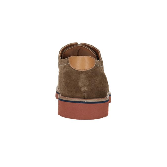 Nieformalne półbuty na kolorowej podeszwie bata, brązowy, 823-8620 - 15