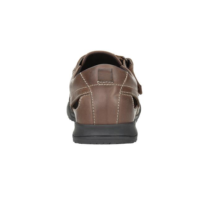 Skórzane sandały męskie comfit, brązowy, 856-4605 - 15