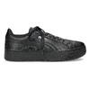 Czarne satynowe trampki puma, czarny, 509-6710 - 19
