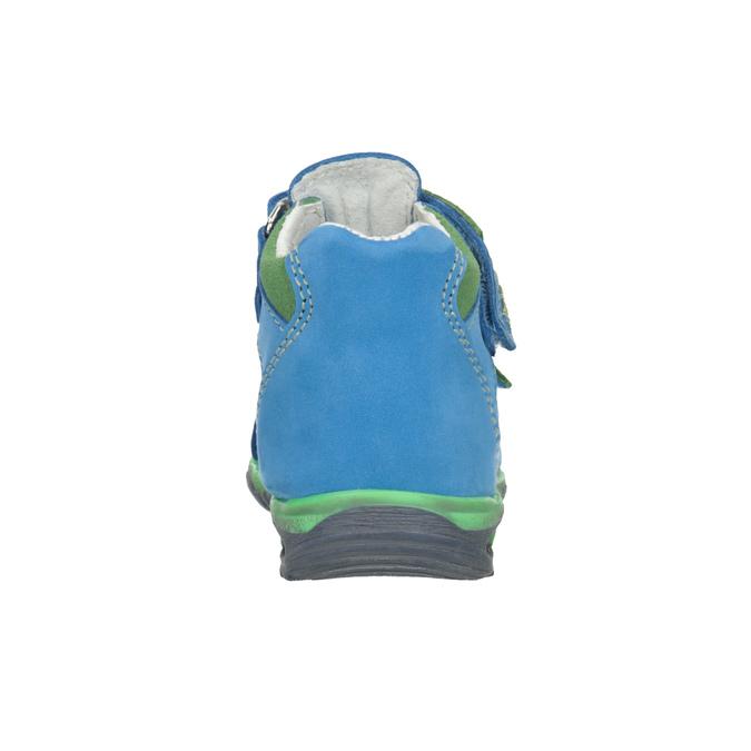 Błękitne skórzane sandały dziecięce bubblegummer, niebieski, 166-9602 - 16