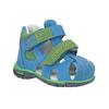 Błękitne skórzane sandały dziecięce bubblegummer, niebieski, 166-9602 - 13