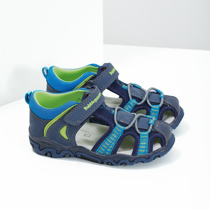 Sandały dziecięce na rzepy bubblegummer, niebieski, 161-9609 - 26