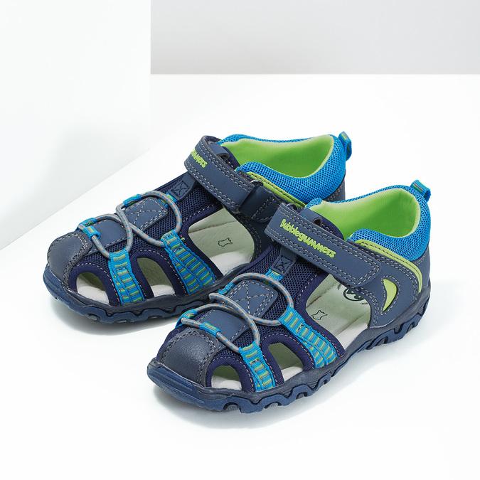 Sandały dziecięce na rzepy bubblegummer, niebieski, 161-9609 - 16