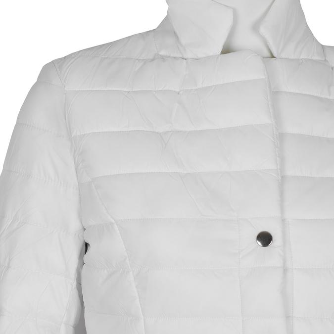 Biała pikowana kurtka zkołnierzykiem bata, biały, 979-1182 - 16