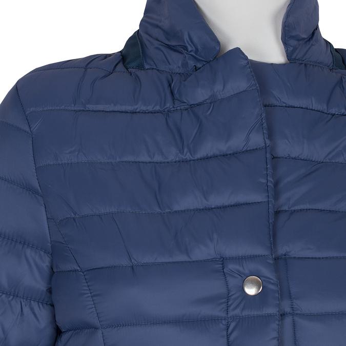 Granatowa pikowana kurtka zkołnierzykiem bata, niebieski, 979-9182 - 16