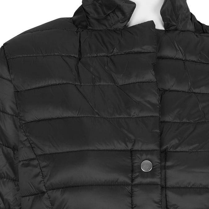 Czarna kurtka damska zkołnierzykiem bata, czarny, 979-6182 - 16
