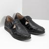 Skórzane sandały zprzeszyciami fluchos, czarny, 864-6605 - 26