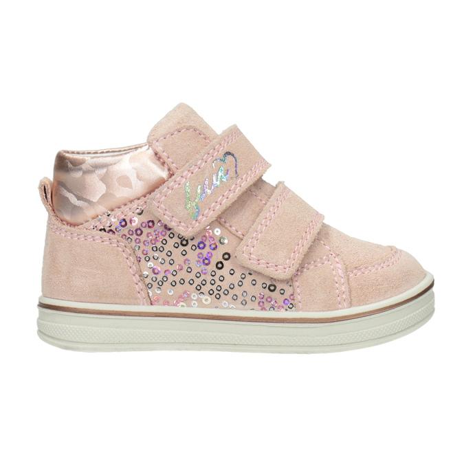 Skórzane botki dziecięce dla dziewcząt bubblegummer, różowy, 123-5606 - 26