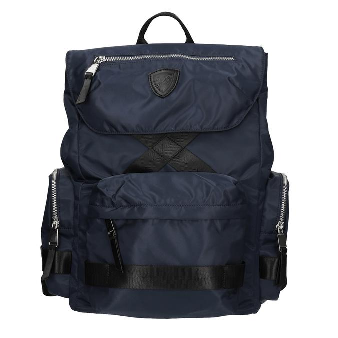 Niebieski plecak męski zmateriału tekstylnego atletico, niebieski, 969-9677 - 26