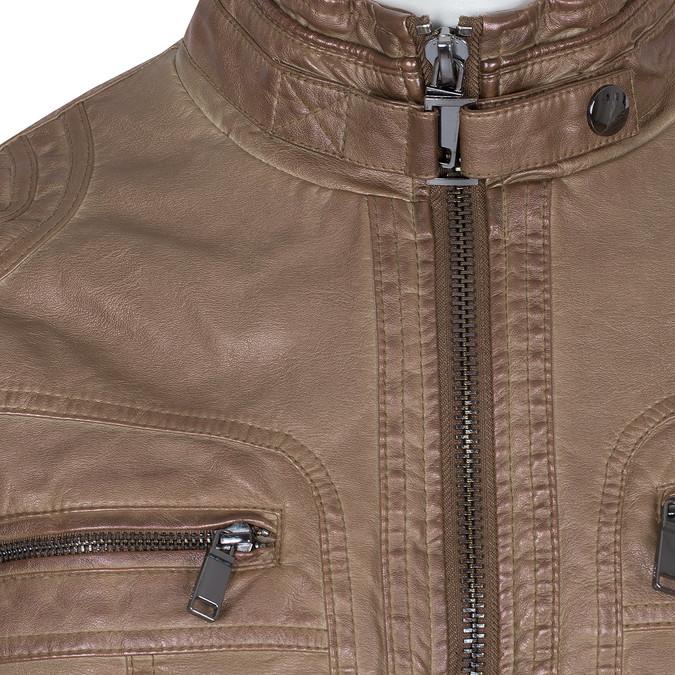 Brązowa kurtka męska ze skóry ekologicznej bata, brązowy, 971-3194 - 16
