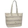 Beżowa torebka typu shopper zperforowanym wzorem gabor-bags, beżowy, 961-8442 - 13