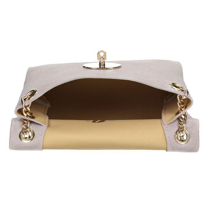 Skórzana torebka typu crossbody ze złotym łańcuszkiem bata, multi color, 964-0239 - 15