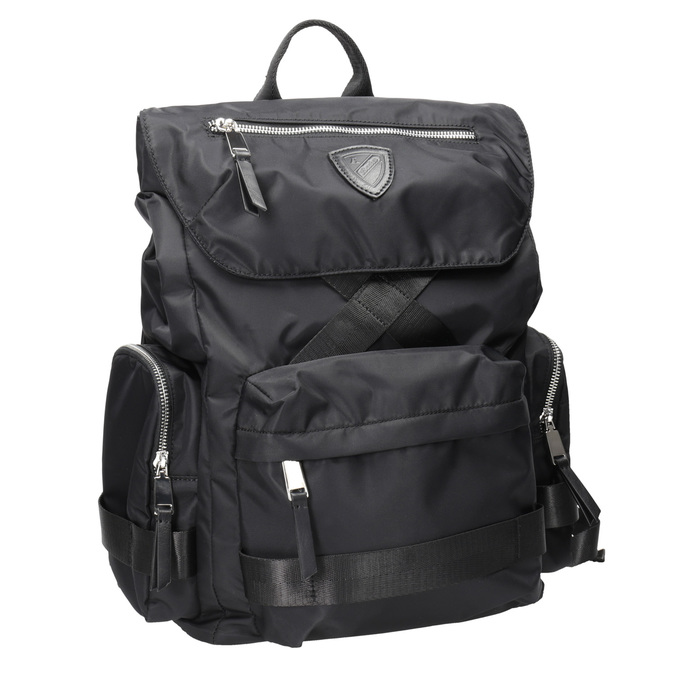 Czarny plecak męski zmateriału tekstylnego atletico, czarny, 969-6677 - 13