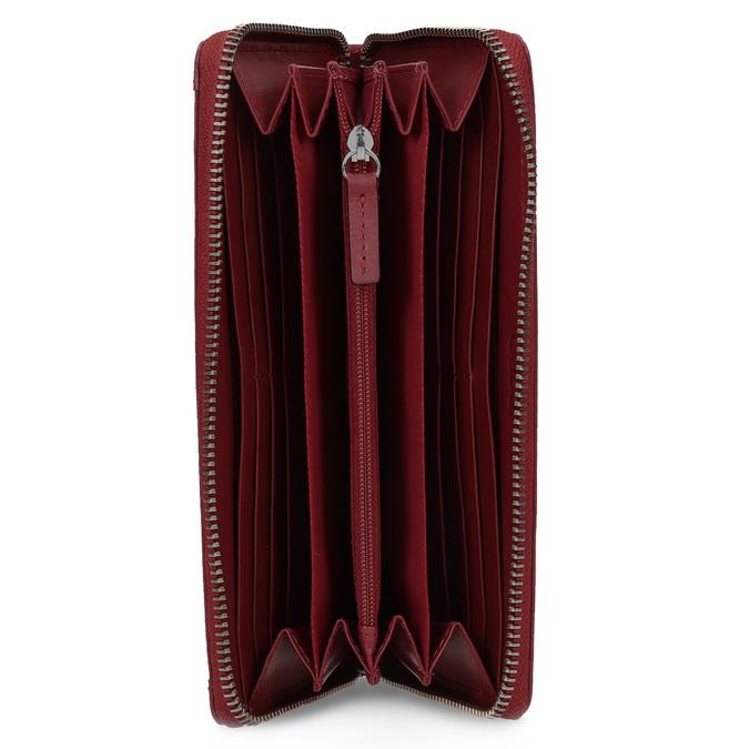 Czerwony skórzany portfel damski gabor-bags, czerwony, 946-5003 - 15