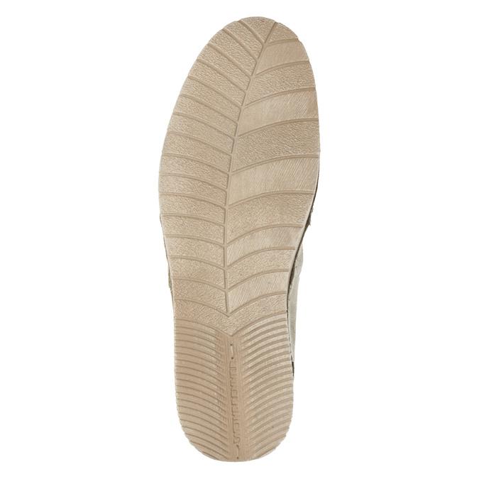 Skórzane slip-on damskie weinbrenner, beżowy, 536-8607 - 19