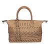 Brązowa torebka damska zperforowanym wzorem bata, brązowy, 961-4827 - 26