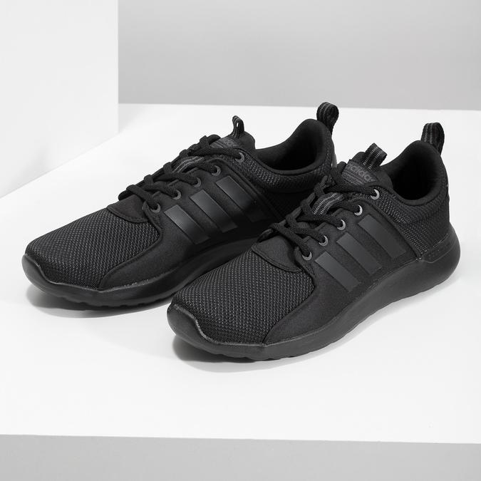 Czarne trampki męskie wsportowym stylu adidas, czarny, 809-6268 - 16