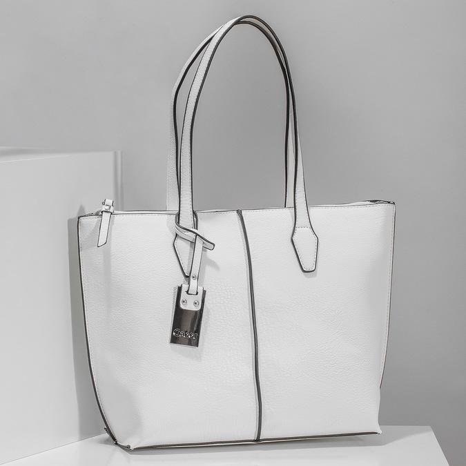 Niewielka biała torebka typu shopper gabor-bags, biały, 961-1016 - 17