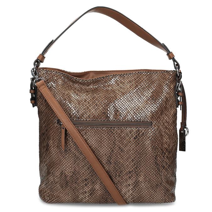 Torebka wdeseń skóry wężowej gabor-bags, brązowy, 961-3008 - 16