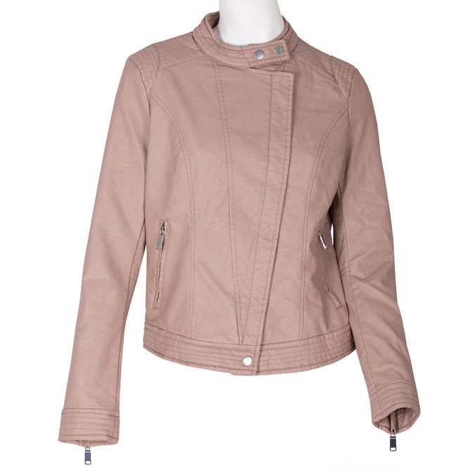 Różowa kurtka damska ze skóry ekologicznej bata, różowy, 971-8211 - 13