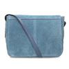 Niebieska skórzana torebka typu crossbody bata, niebieski, 963-9127 - 16