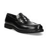 Czarne skórzane mokasyny męskie bata, czarny, 814-6177 - 13