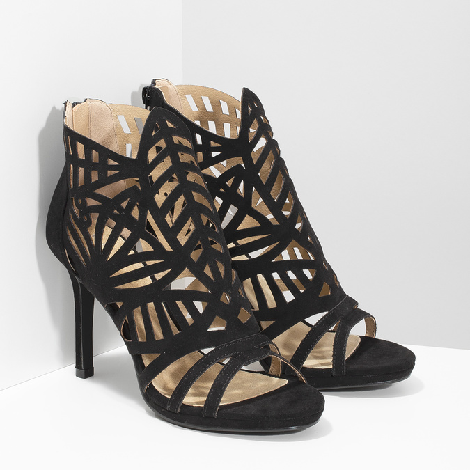 Sandały na szpilkach bata, czarny, 729-6615 - 26