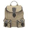 Plecak zmateriału tekstylnego, zkieszeniami bata, beżowy, 969-8685 - 26