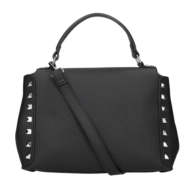Czarna torebka typu crossbody zćwiekami bata, czarny, 961-6279 - 16