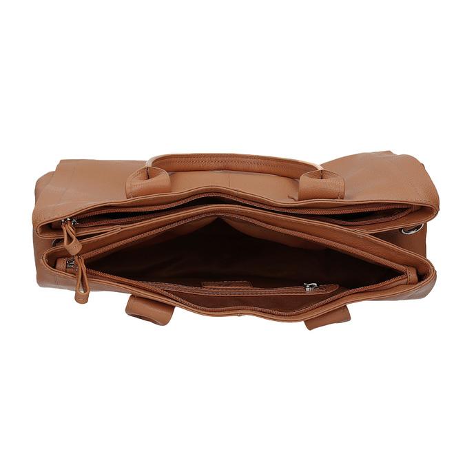 Jasnobrązowa skórzana torebka bata, brązowy, 964-3298 - 15