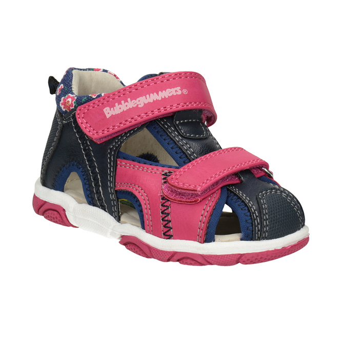 Sandały dziewczęce na rzepy bubblegummer, różowy, 161-5604 - 13