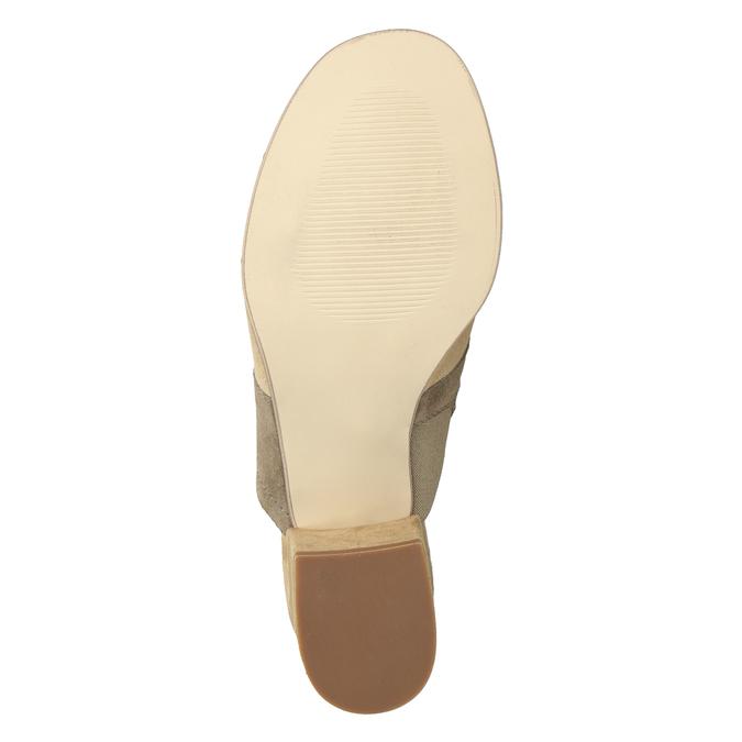 Brązowe skórzane klapki na obcasach bata, brązowy, 666-4625 - 19