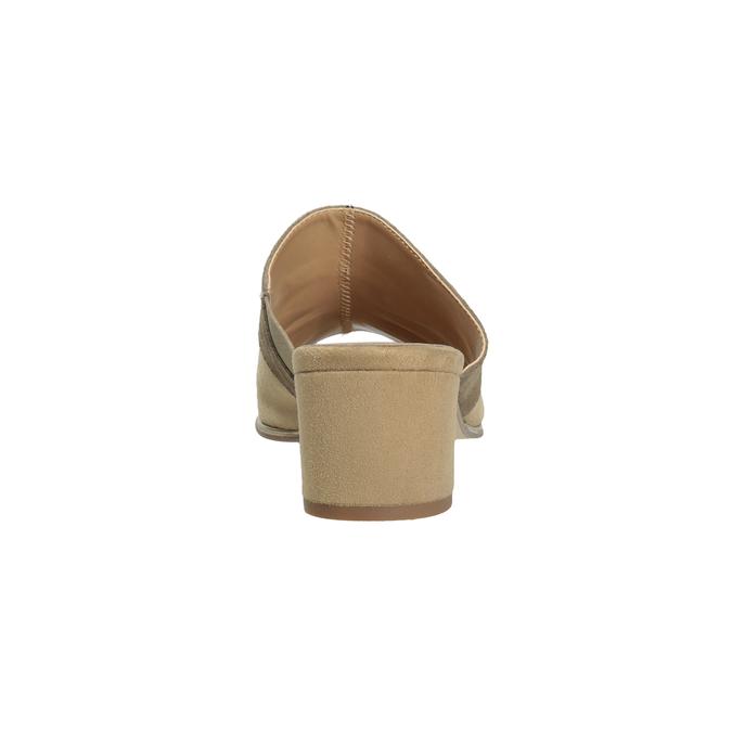 Brązowe skórzane klapki na obcasach bata, brązowy, 666-4625 - 15