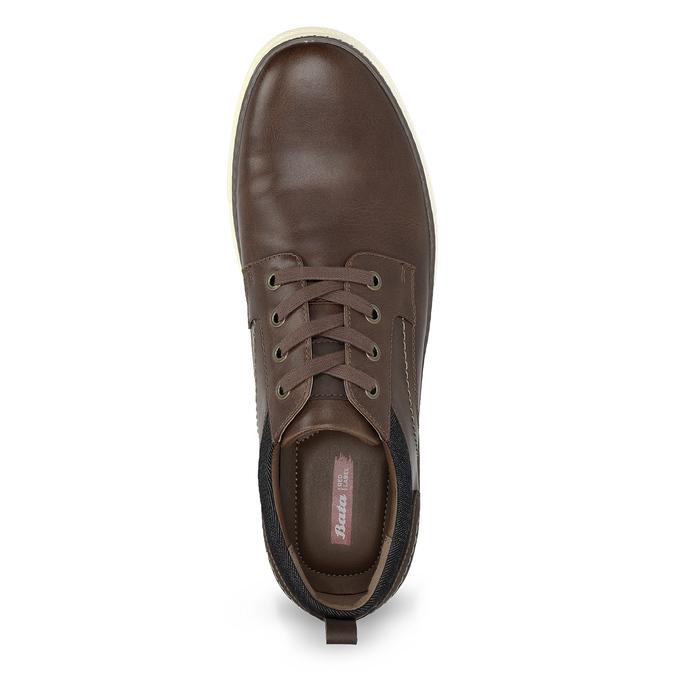 Brązowe trampki męskie bata-red-label, brązowy, 841-3618 - 17
