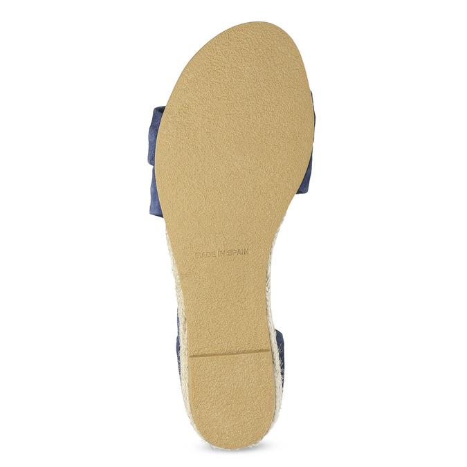 Niebieskie skórzane sandały na koturnach bata, niebieski, 563-9600 - 18