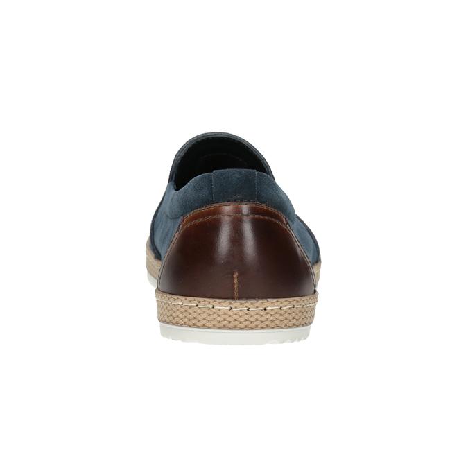Granatowe zamszowe slip-on męskie bata, niebieski, 833-9602 - 16