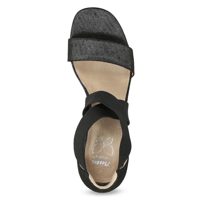 Czarne sandały na szpilkach insolia, czarny, 769-6625 - 17