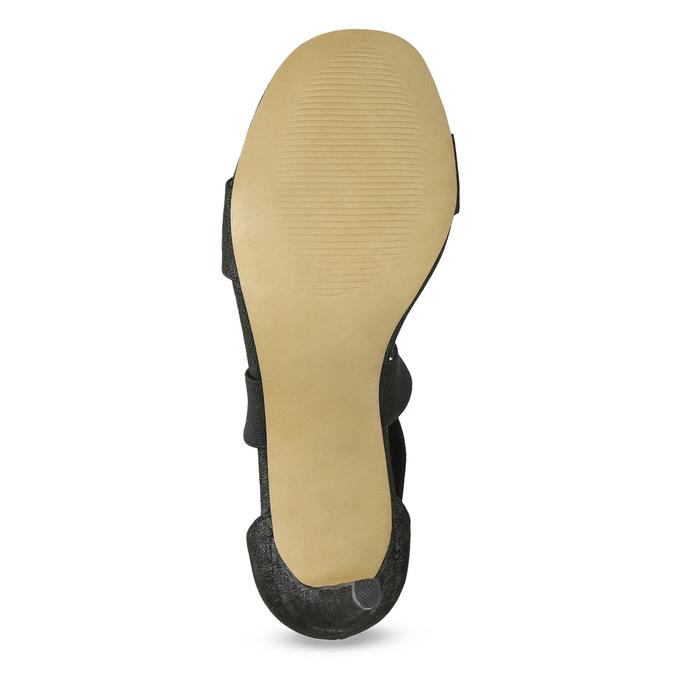 Czarne sandały na szpilkach insolia, czarny, 769-6625 - 18