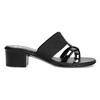 Czarne sandały zkryształkami na niskich obcasach comfit, czarny, 661-4611 - 19